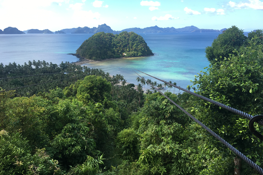 20 Zip line. El Nido. Filipinai