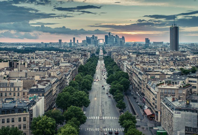 La Défense verslo rajonas Paryžiuje
