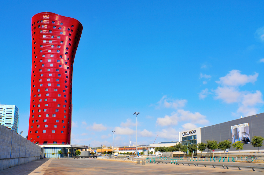 BARCELONA, SPAIN - AUGUST 18: Hotel Porta Fira on August 18, 2011 in Barcelona, Spain. The hotel is
