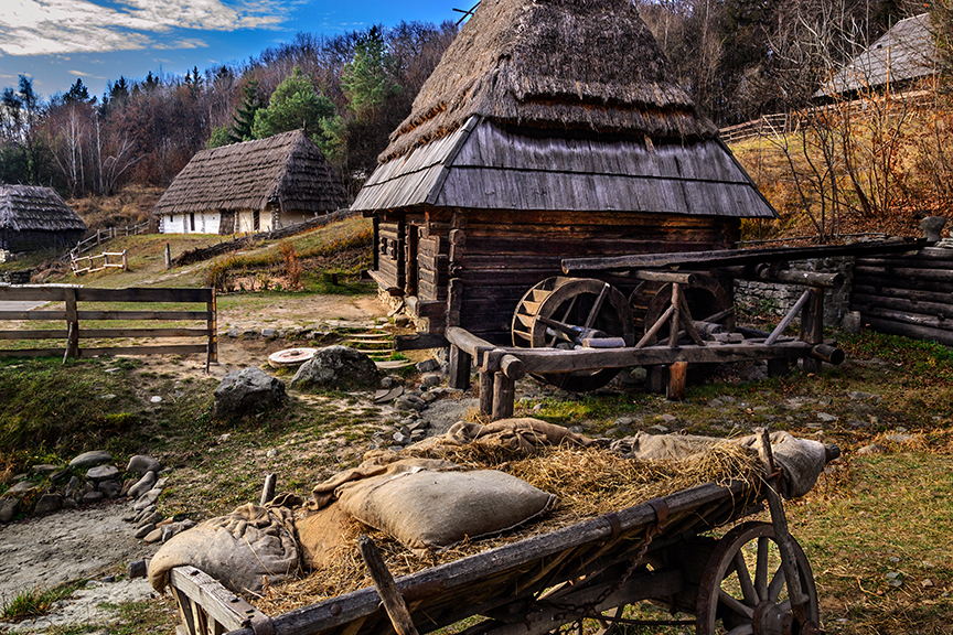 Pirogovo museum otkrytymm air in Kiev. Ukraine