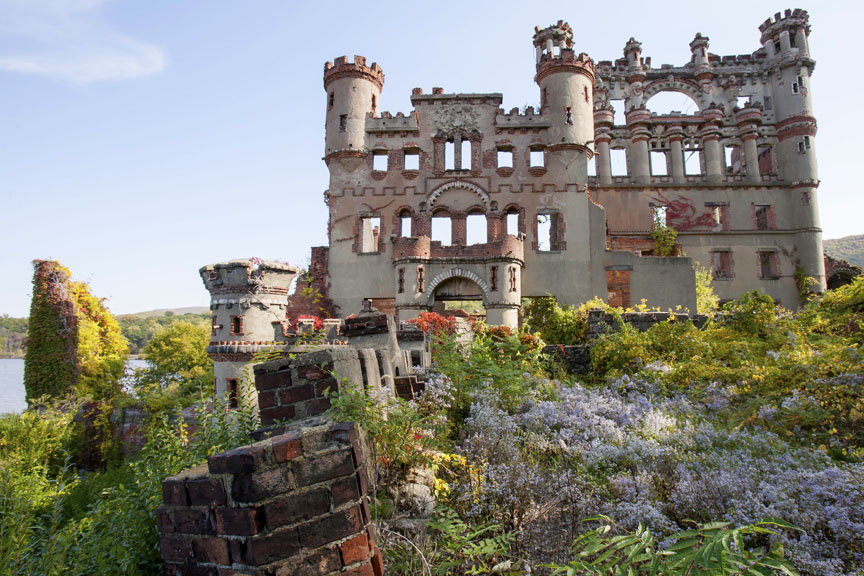 Castle Ruins and Overgrown Garden