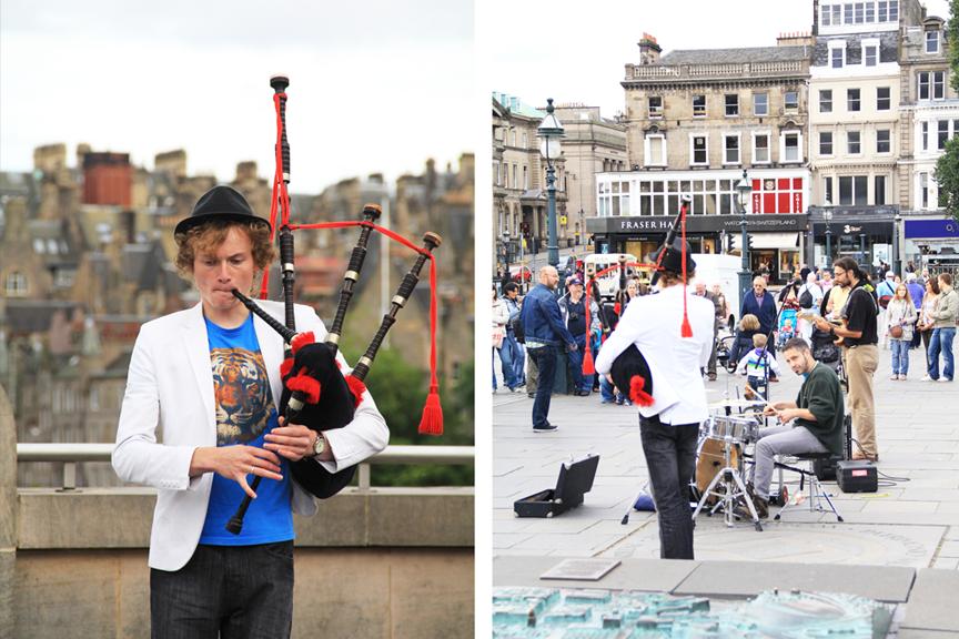 Edinburgas pigūs skrydžiai, gatvės muzikantai