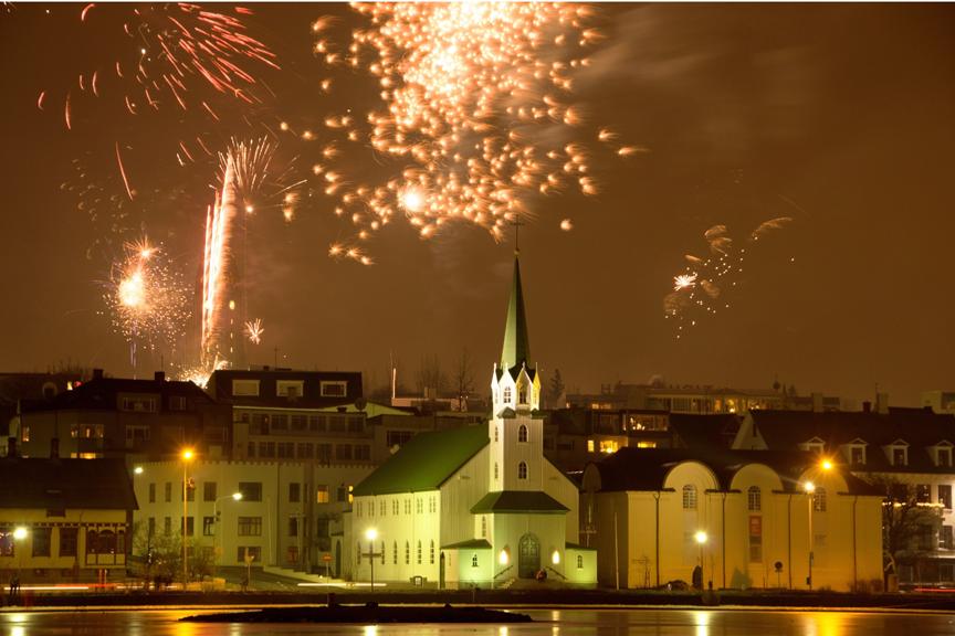 Gražiausios Europos vietos sutikti Naujuosius metus-Reikjavikas