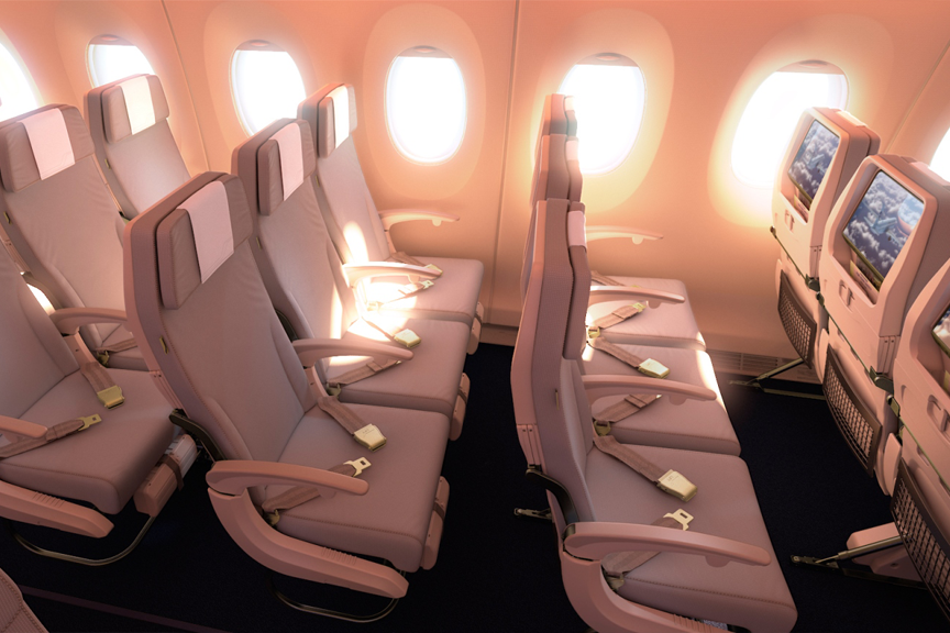 Finnair A350 XWB Economy Class Cabin 05 HR