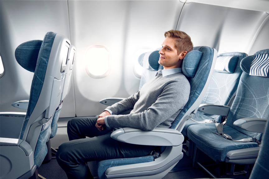 Finnair economy comfort longhaul man