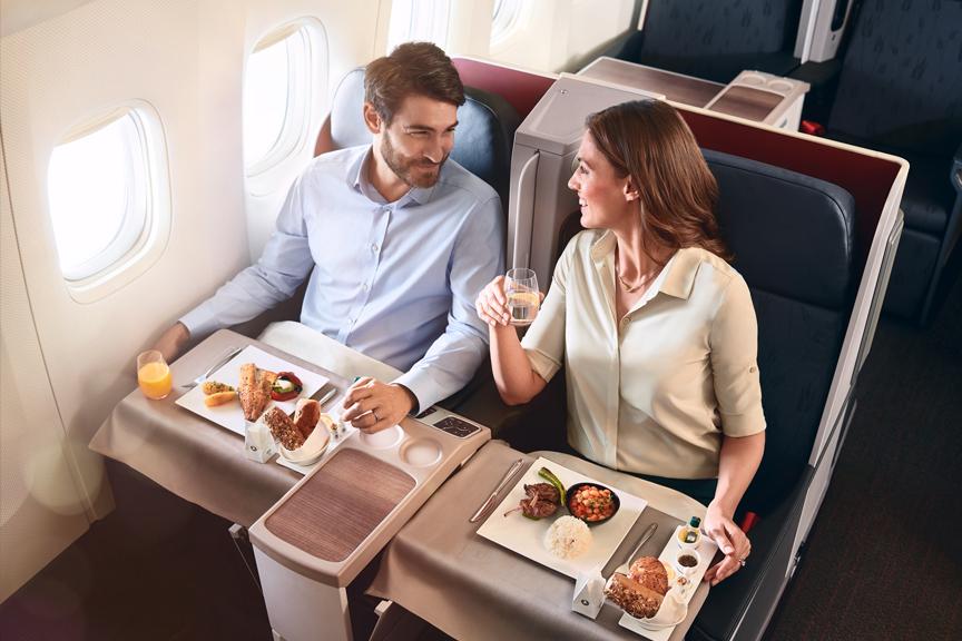 Turkish Airlines maistas lėktuve