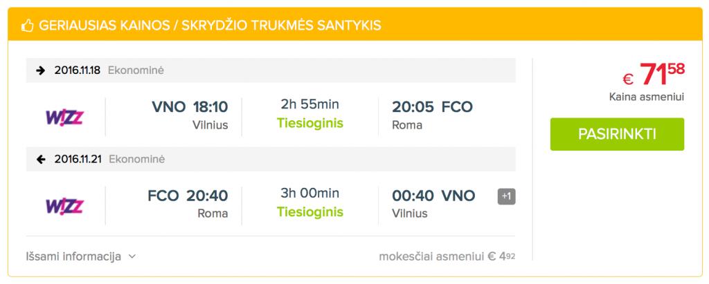 Pigūs skrydžiai į Romą. Skrisk pigiau