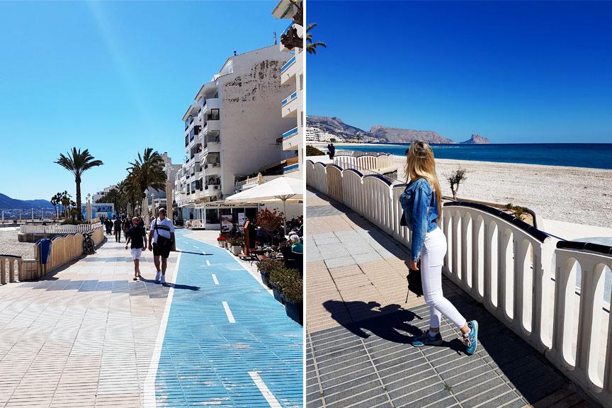 Mergina vaikščiojanti Ispanijos Altėjos mieste