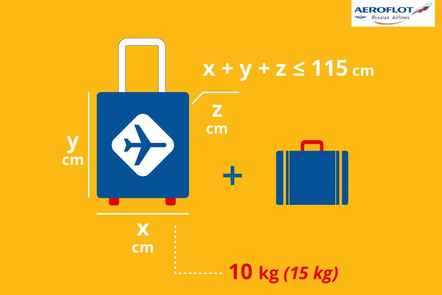 Aeroflot bagažo matmenys