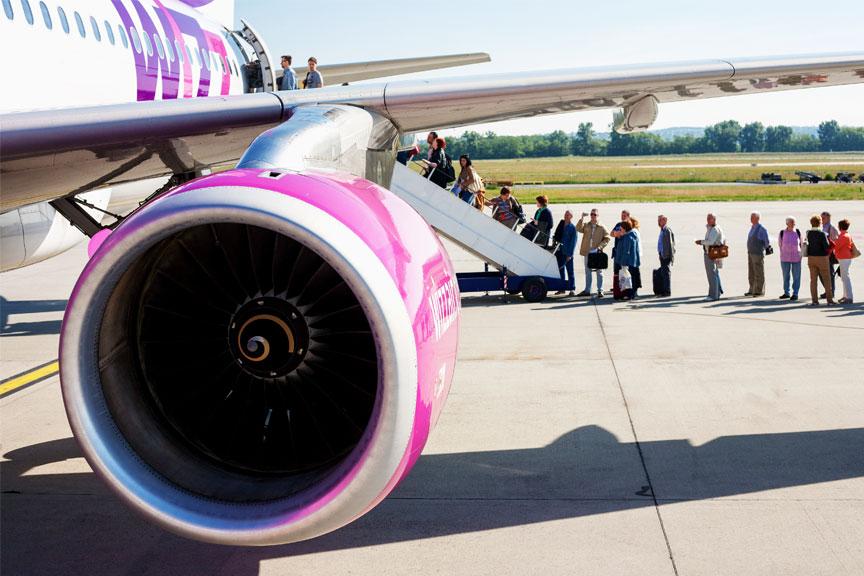 Keleivių laipinimas į lėktuvą