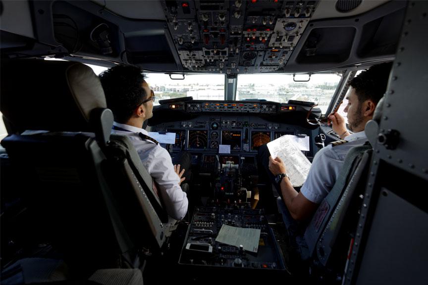 Ryanair pilotų kabina