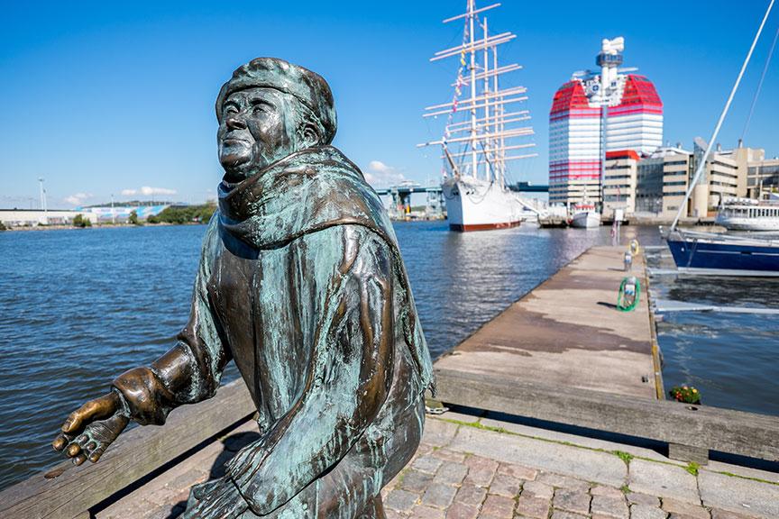 Geteborgo uosto skulptūra
