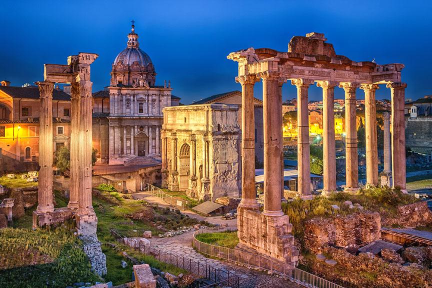Senieji Romos griuvėsiai, Antikinis miestas