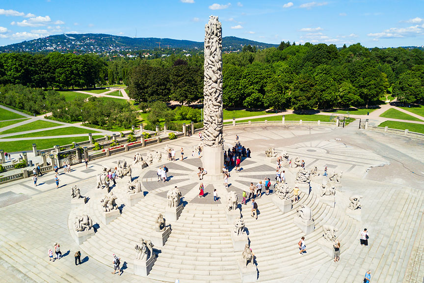 Vigeland skulptūrų parkas Oslas