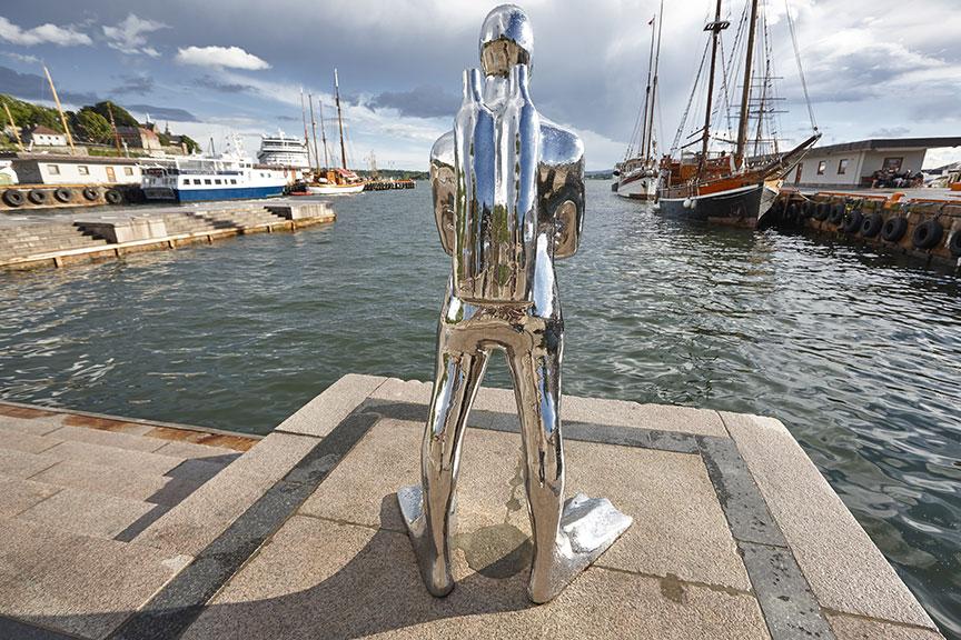 Naro skulptūra uoste Oslas