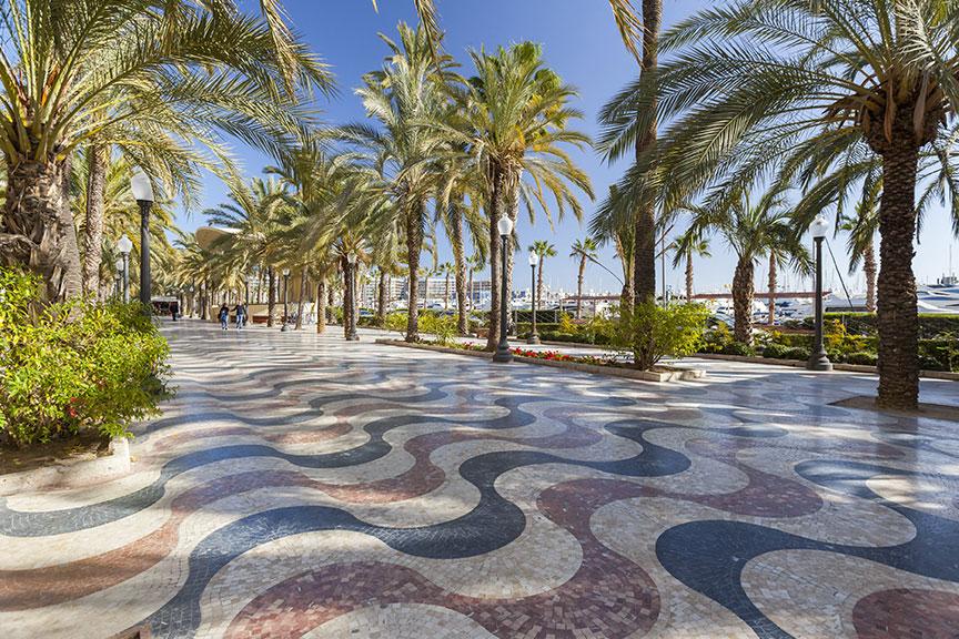 Ispanijos promenada Alikantė