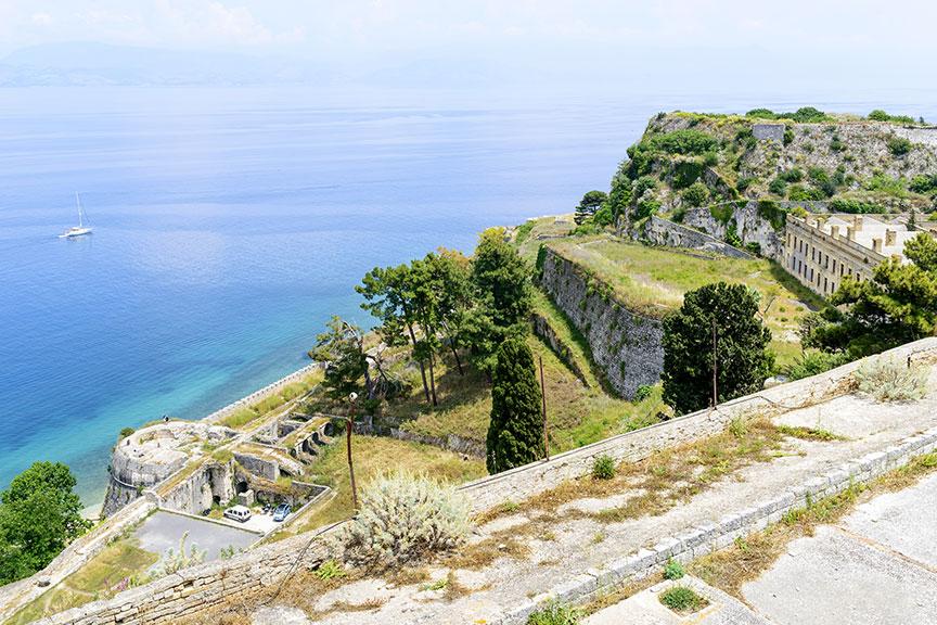 Gynybiniai įtvirtinimai Korfu sala Graikija