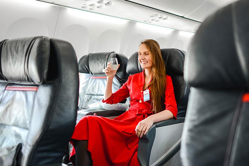 Skrendant Turkish Airlines verslo klase