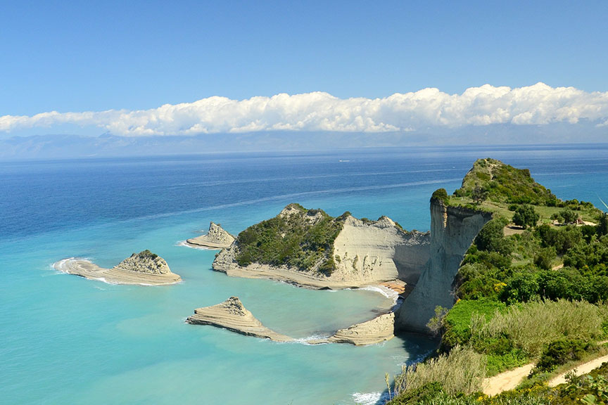 Korfu sala Graikija