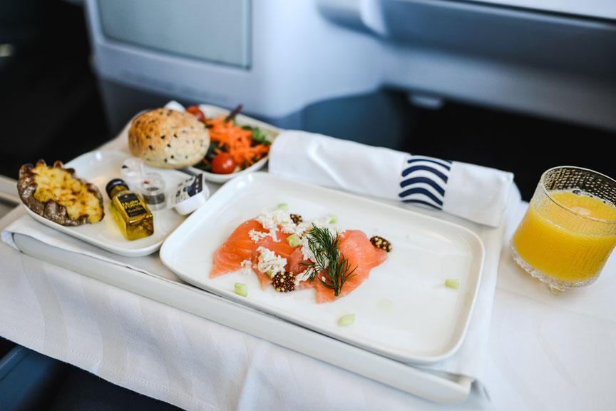 Užkandis, lašina, Finnair oro linijos