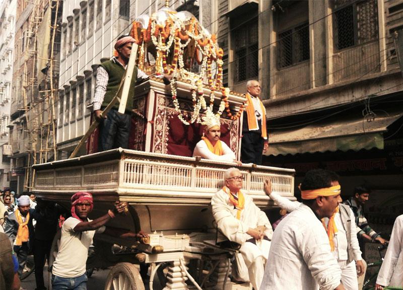 Religinė procesija Indijoje