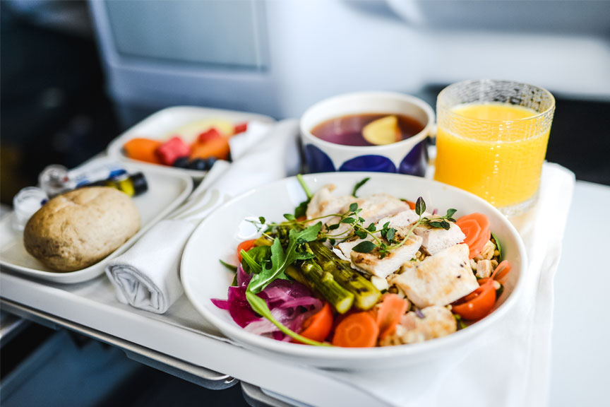 Finnair oro linijų siūlomi pietūs