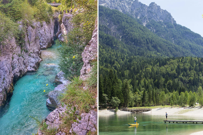 Soča upė Slovėnija, Jasna ežeras