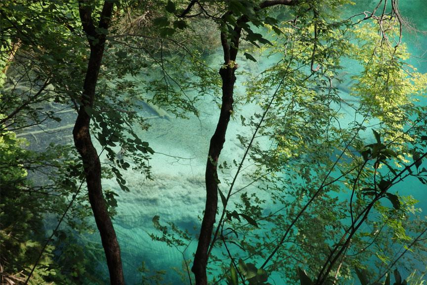 Vandens skaidrumas Plitvicos nacionaliniame parke