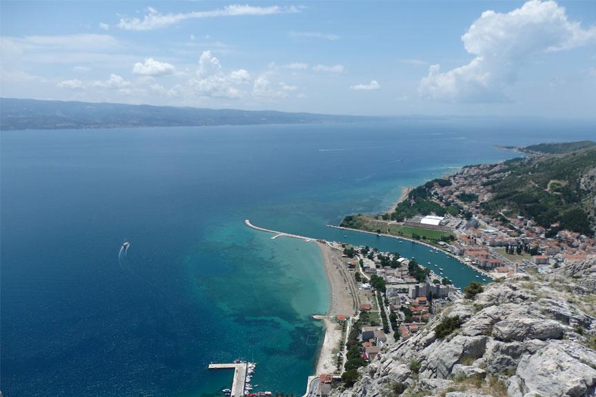 Vaizdas nuo Omišo iš aukštojo forto, Kroatija