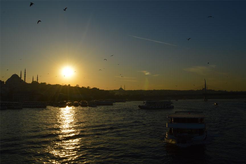 Saulė leidžiasi, Stambulas