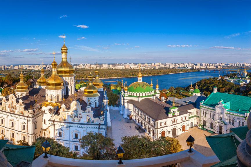 Panoraminis Kijevo vaizdas