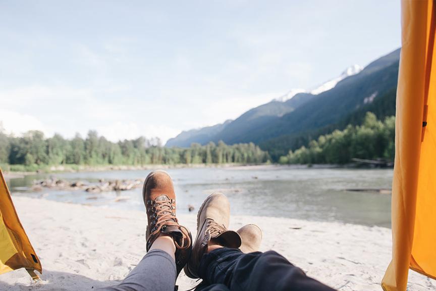 Batai, kojos, kalnai, Kanada