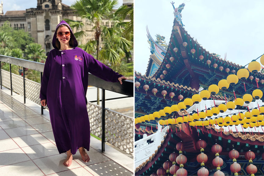 Moteris su ilgu apdaru, Nacionalinė Malaizijos mečetė