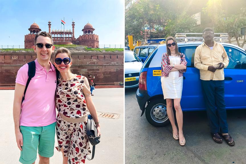 Rasa Levickaitė su vyru, Indija